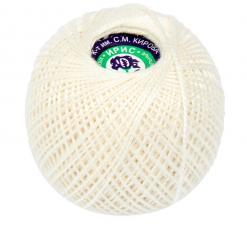 """Нитки для вязания """"Ирис"""". Цвет 0102 молочный"""