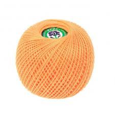 """Нитки для вязания """"Ирис"""". Цвет 0604 светло-оранжевый"""