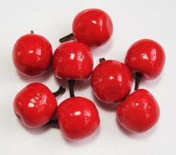 Яблоко красное декоративное,25 мм,уп.20 шт.