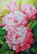 Картины бисером | Розовый аромат. Размер - 20 х 28 см.