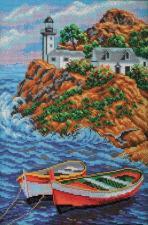 Радуга бисера (Кроше) | Мыс Западный.Бретань. Размер - 26 х 38 см.
