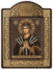 """Киот Образ Пресвятой Богородицы """"Умягчение злых сердец""""."""