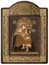 """Киот Образ Пресвятой Богородицы """"Отчаянных Единая надежда""""."""