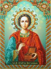 Картины бисером   Святой целитель Пантелеймон. Размер - 20 х 27 см.