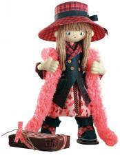 """Набор для шитья текстильной каркасной куклы """"Шоколадница мама""""."""