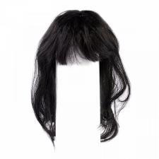 Волосы (парик) для кукол (прямые),цвет:чёрный,размер - 22-28 см (шар 7-9 см)