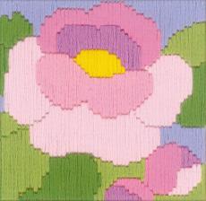 """Набор для вышивания длинным стежком """"Пион"""""""