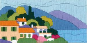 """Набор для вышивания длинным стежком """"Городок у моря"""""""