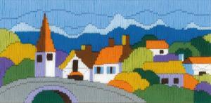 """Набор для вышивания длинным стежком """"Городок в горах"""""""