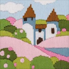 """Набор для вышивания длинным стежком """"Розовый сад"""""""