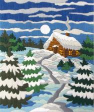 Маричка | Зимняя ночь. Размер - 18 х 21 см.