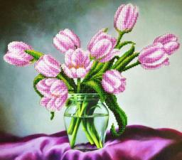 Картины бисером | Тюльпаны. Размер - 37 х 33 см.