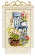 """Набор для вышивания крестом """"Дача. Весна"""". Размер - 20 х 30 см."""