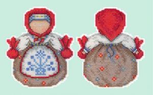 """Набор для вышивания на пластиковой канве """"Оберег. Кубышка""""."""