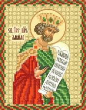 Святой царь и пророк Давид. Размер - 13 х 16 см.