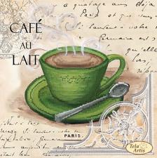 Кофе в Париже-5. Размер - 24 х 24 см.