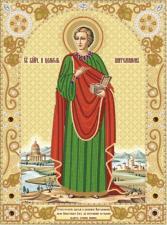 Святой Великомученик Пантелеймон Целитель. Размер - 25 х 34 см.