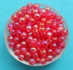 Бусины цветные,4 мм,цвет (красный).
