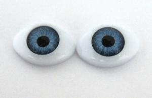 Глазки для кукол овальные (половинки). Цвет (голубой)