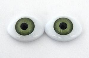 Глазки для кукол овальные (половинки). Цвет (зелёный)