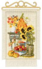 """Набор для вышивания крестом """"Дача. Осень"""". Размер - 20 х 30 см."""