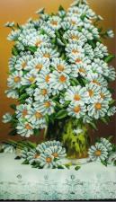 Картины бисером   Букет ромашек. Размер - 28 х 50 см.
