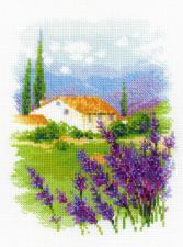 """Набор для вышивания крестом """"Ферма в Провансе"""". Размер - 18 х 24 см."""