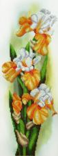 Картины бисером | Жёлтые ирисы. Размер - 16 х 43 см.