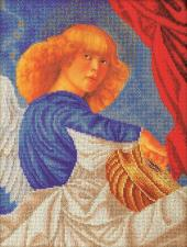 "Радуга бисера (Кроше) | Ангел ""Музицирующий ангел. Примо"". Размер - 26 х 35 см."