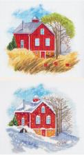 Времена года:Осень,Зима. Размер - 18 х 39 см.