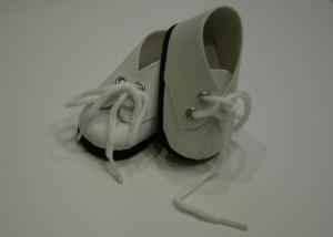 Ботинки на шнурках для кукол,белые