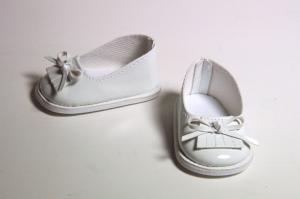 Туфли лаковые для кукол,белые