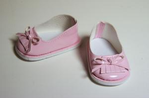 Туфли лаковые для кукол,розовые