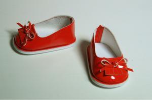 Туфли лаковые для кукол,красные