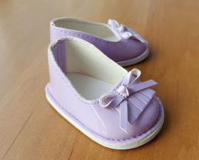 Туфли лаковые для кукол,фиолетовые