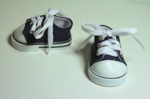 Кеды со шнурками для кукол,синие