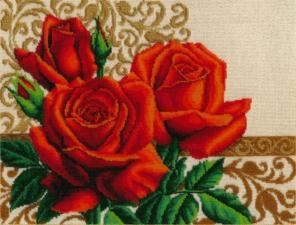 Золотые ручки | Цветы любви. Размер - 41 х 31 см.