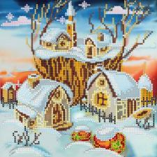"""Схема для вышивки бисером """"Волшебная зима""""."""