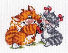 МП Студия | Рыжий кот.Подарок. Размер - 20 х 15 см.