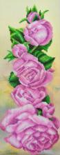 Картины бисером | Розовый аккорд. Размер - 16 х 44 см.