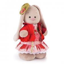 Зайка Ми Маково-красный, мягкая игрушка BudiBasa