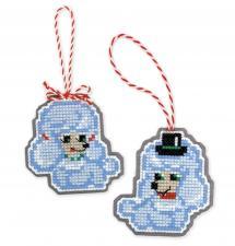 """Набор для вышивания крестом """"Новогодние игрушки """"Собачки"""""""""""
