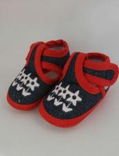 Ботиночки на липучке для кукол арт.КЛ.25591,красный