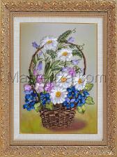 Шёлковый сад | Летние цветы. Размер - 20 х 29 см