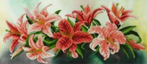 Картины бисером | Лилии. Размер - 55 х 24,5 см.