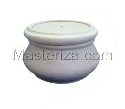 Заготовка для игольницы-шкатулки,диаметр 8 см,высота 6,5 см