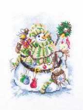 """Набор для вышивания крестом """"Снежорик"""". Размер - 13 х 18 см."""