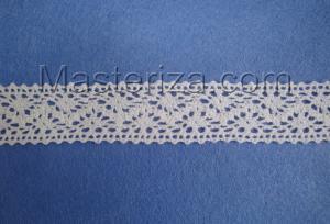 Кружевная тесьма, артикул 09м, ширина 25 мм, цвет белый