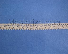 Кружевная тесьма, артикул 644, ширина 15 мм, цвет бежевый