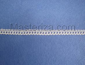 Кружевная тесьма, артикул 930а, ширина 6 мм, цвет белый